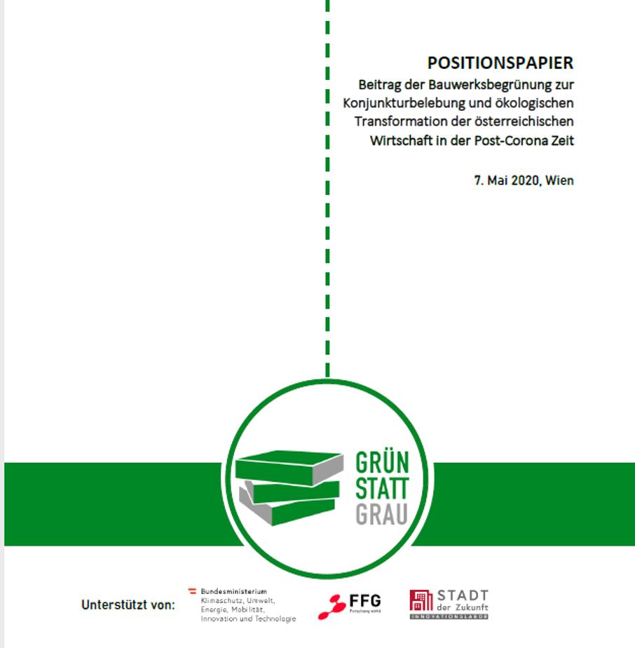 Positionspapier Bauwerksbegrünung 2020 (C) GRÜNSTATTGRAU