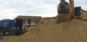 Urban Mining Aushubmaterial Brechung Siebung - Copyright Thomas Romm